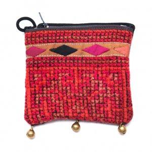 ThongPua モン族ヴィンテージ刺繍のネックポーチ Type.3