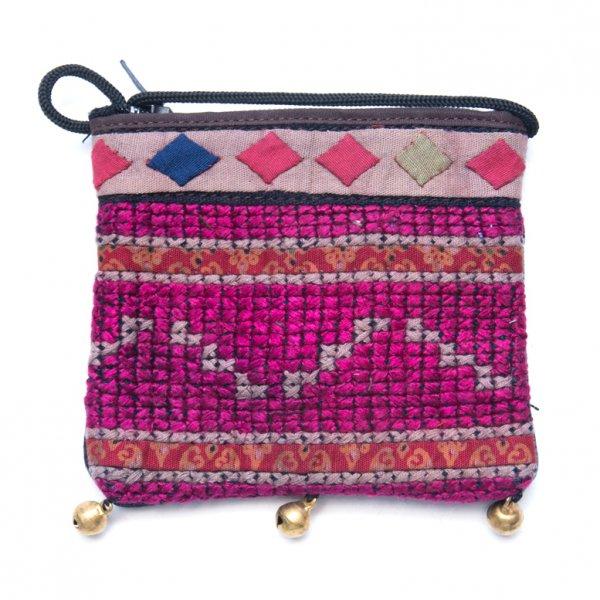 ThongPua モン族ヴィンテージ刺繍のネックポーチ Type.7