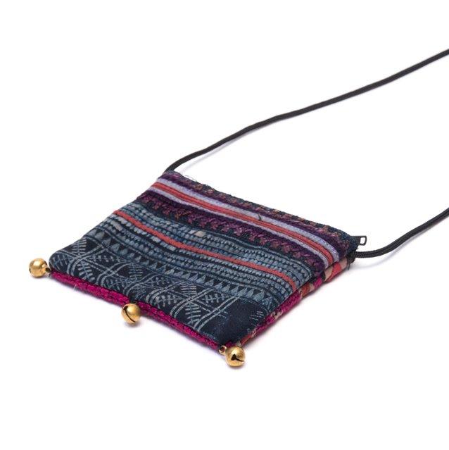 画像3:ThongPua モン族ヴィンテージ刺繍のネックポーチ Type.7