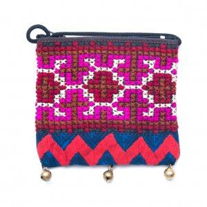ThongPua モン族ヴィンテージ刺繍のネックポーチ Type.5