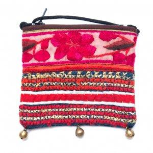 ThongPua モン族ヴィンテージ刺繍のネックポーチ Type.6