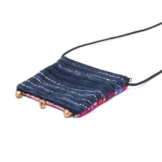 画像3:ThongPua モン族ヴィンテージ刺繍のネックポーチ Type.1