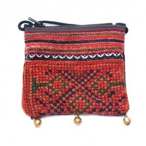 ThongPua モン族ヴィンテージ刺繍のネックポーチ Type.2