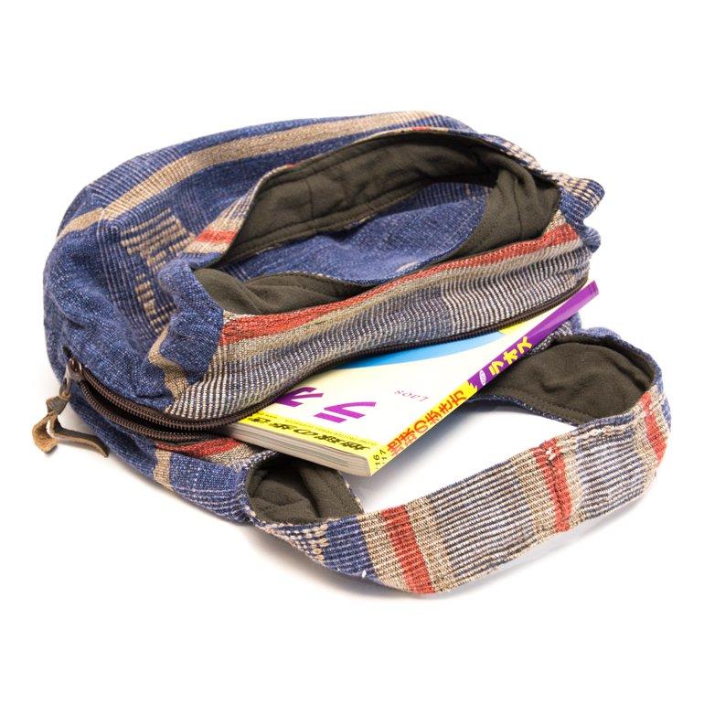 画像3:THANGEN ナガ族刺繍のおしゃれトートバッグ/タイ雑貨/デザイナーズブランド