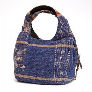THANGEN ナガ族手織り布の大人トートバッグ Type.2
