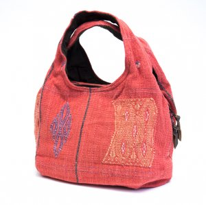 THANGEN ナガ族刺繍の大人トートバッグ/タイ雑貨/デザイナーズブランド