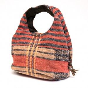 THANGEN ナガ族手織り布の大人トートバッグ Type.3