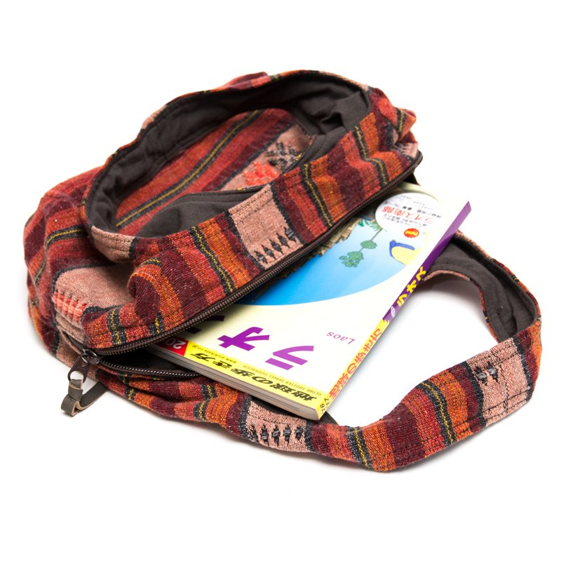 画像3:THANGEN ナガ族刺繍の軽い☆トートバッグ/タイ雑貨/デザイナーズブランド
