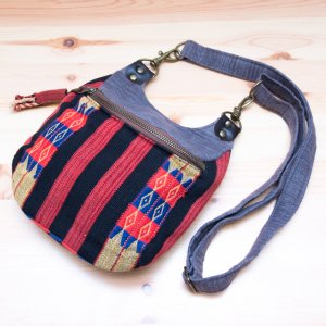 THANGEN ナガ族手織り布のショルダーポシェット Type.1