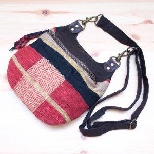 THANGEN ナガ族手織り布のショルダーポシェット Type.2