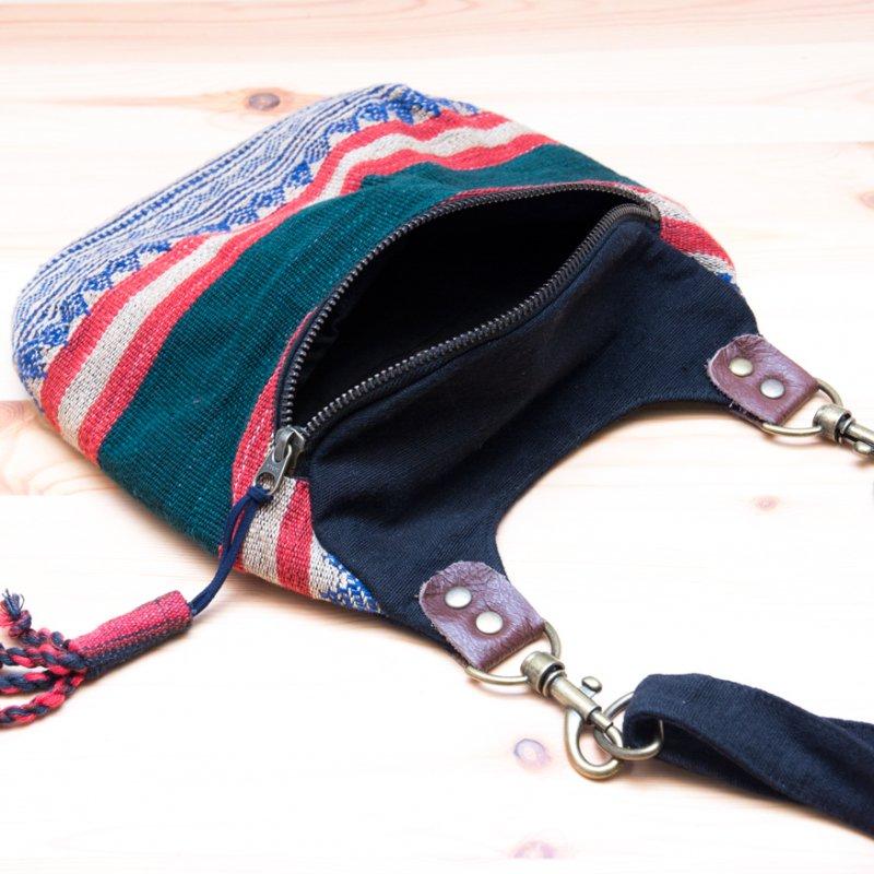 画像4:THANGEN ナガ族刺繍のショルダーポシェット Type.3