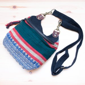THANGEN ナガ族手織り布のショルダーポシェット Type.3