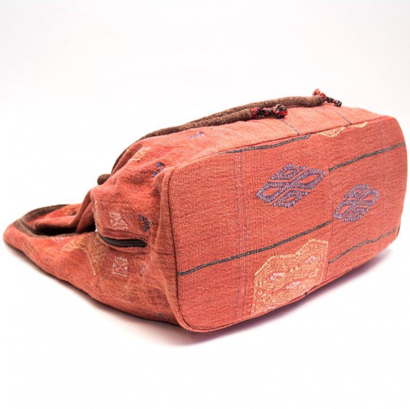画像3:THANGEN ナガ族刺繍のショルダーバッグ(レッド)
