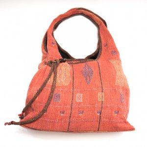 THANGEN ナガ族手織り布のショルダーバッグ(レッド)