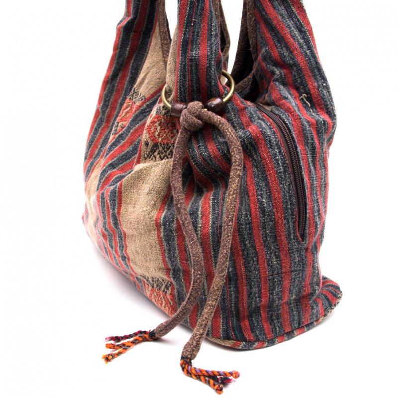 画像2:THANGEN ナガ族刺繍のショルダーバッグ Type.1
