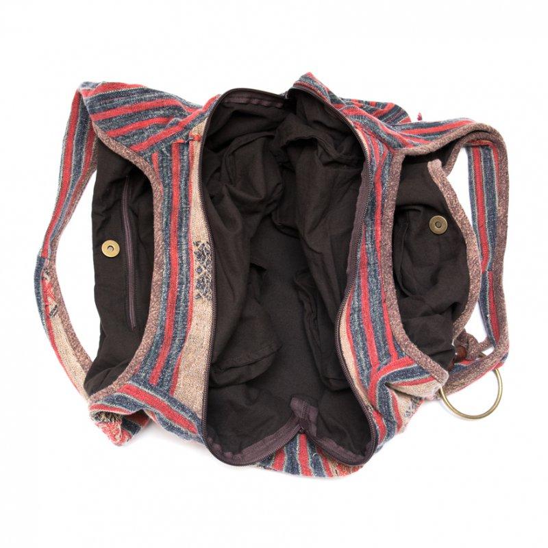 画像4:THANGEN ナガ族刺繍のショルダーバッグ Type.1