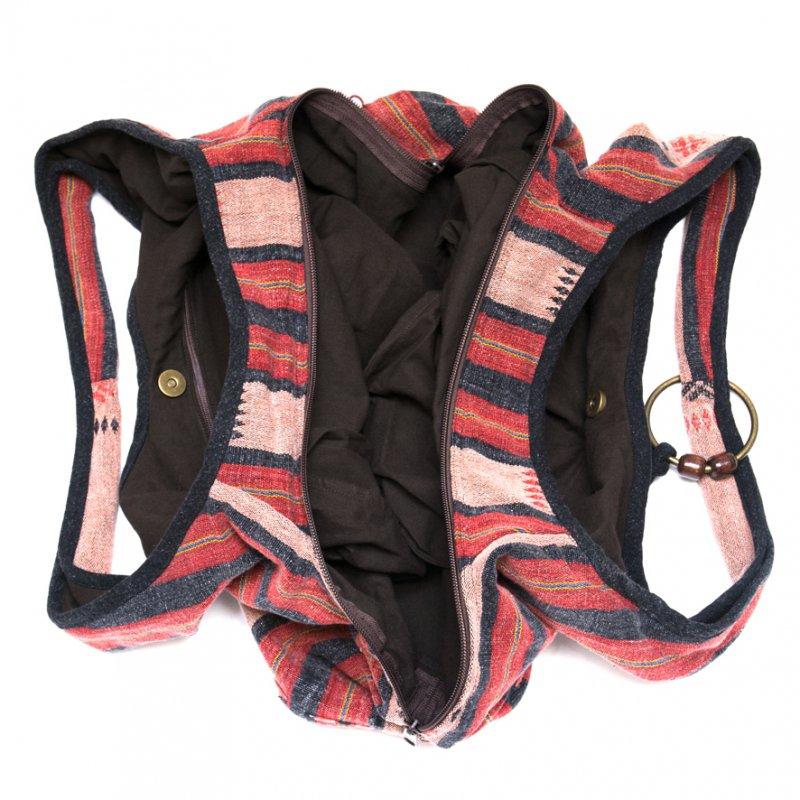 画像4:THANGEN ナガ族刺繍のショルダーバッグ Type.2