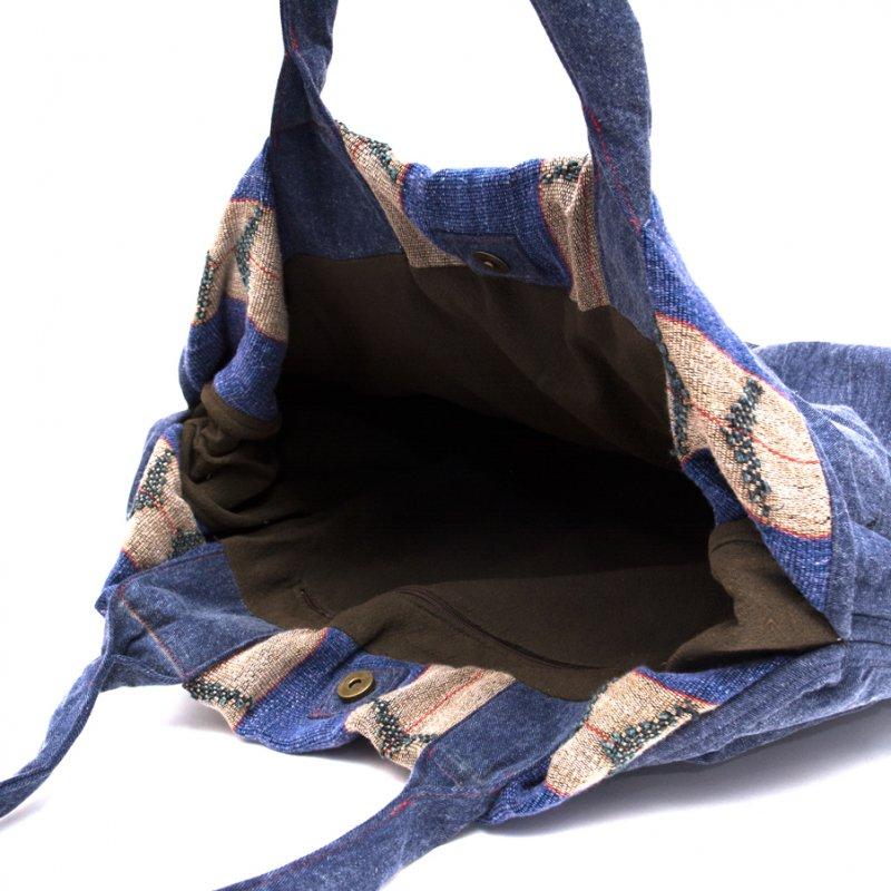 画像4:THANGEN ナガ族刺繍のデニムショルダーバッグ Type.1