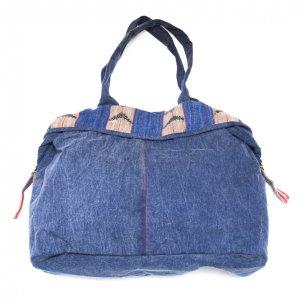 THANGEN ナガ族手織り布のデニムショルダーバッグ Type.1