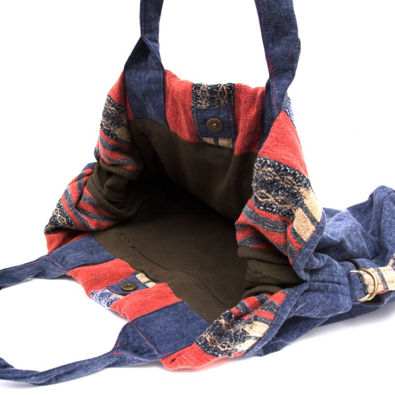 THANGEN ナガ族刺繍のデニムショルダーバッグ Type.2