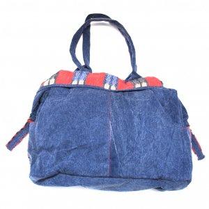 THANGEN ナガ族手織り布のデニムショルダーバッグ Type.2