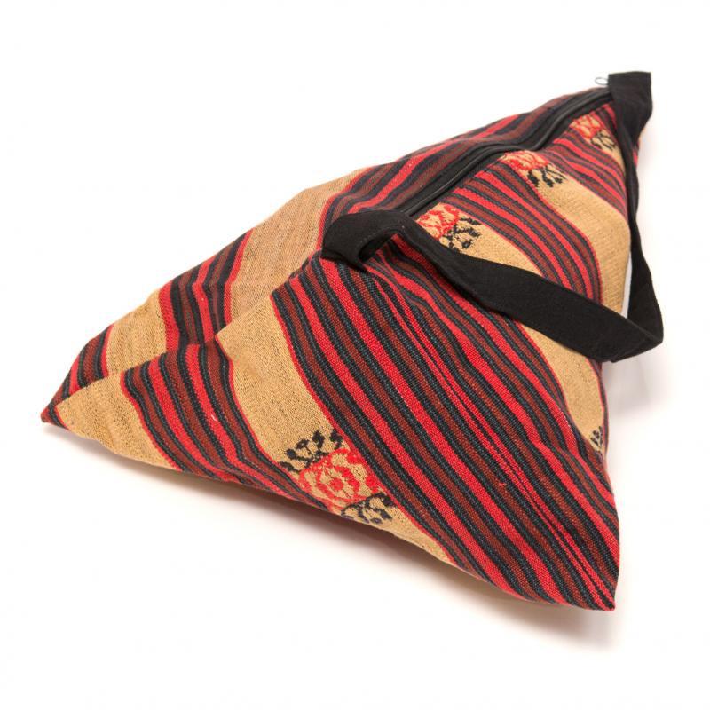 ナガ族刺繍の巾着バッグ