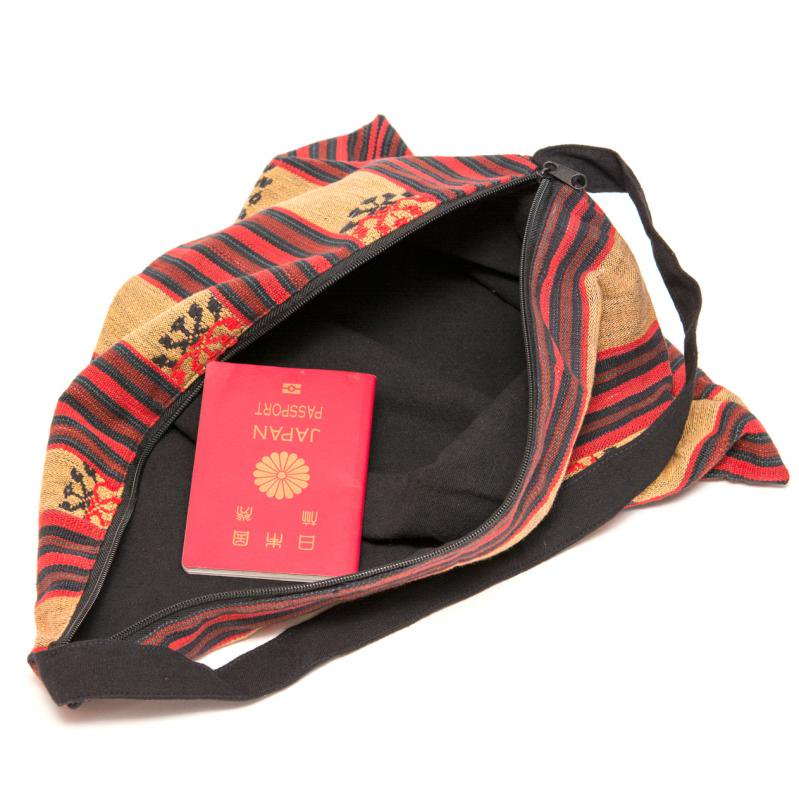 画像3:ナガ族刺繍の巾着バッグ