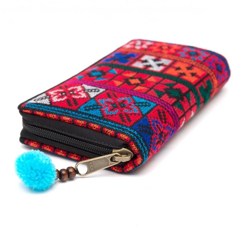 画像2:アカ族刺繍(精彩)の長財布/ラウンドファスナータイプ
