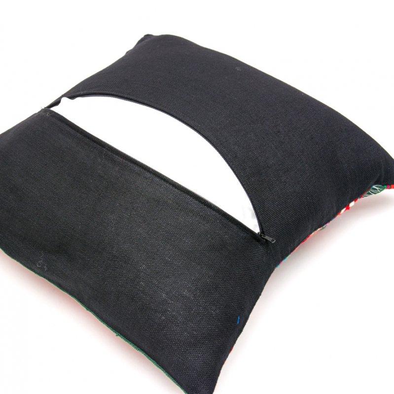 画像3:アカ族刺繍のクッションカバー(緑)