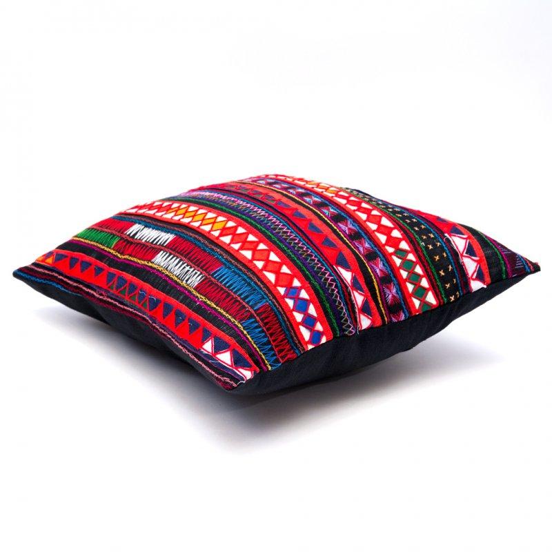 画像2:アカ族刺繍のクッションカバー(紺)