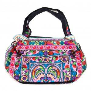 花モン族の色鮮やかなショルダーバッグ