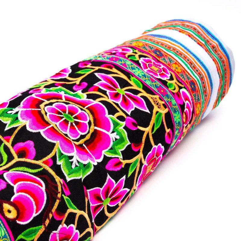 花モン族の色鮮やかなヨガマットケース Type.2