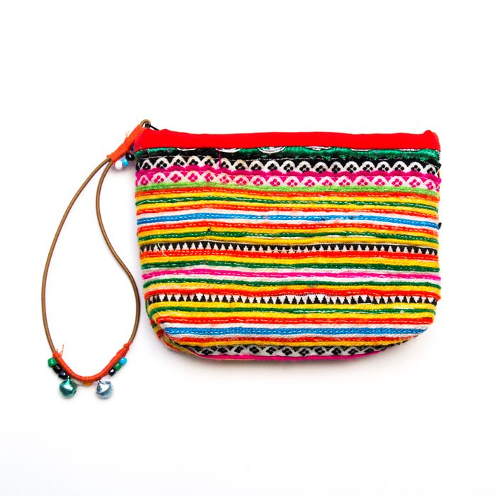 モン族ヴィンテージ刺繍ポーチ