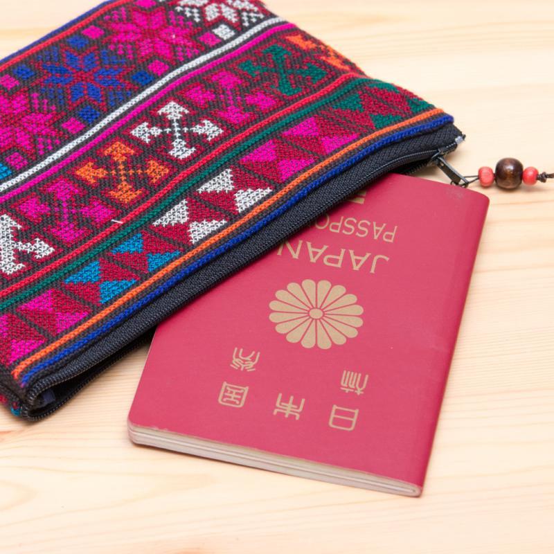画像2:A Bu-Ari(アブアリ)アカ族刺繍クッションポーチ Type.2