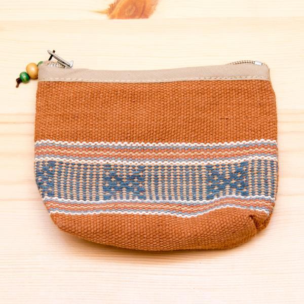 A Bu-Ali(アブアリ)カレン族手織り小物ポーチ(ブラウン)Type.2