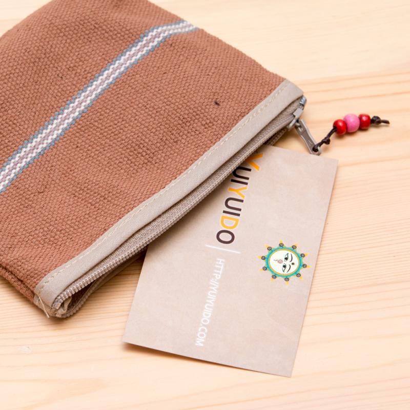 A Bu-Ali(アブアリ)カレン族手織り小物ポーチ(ブラウン)Type.1