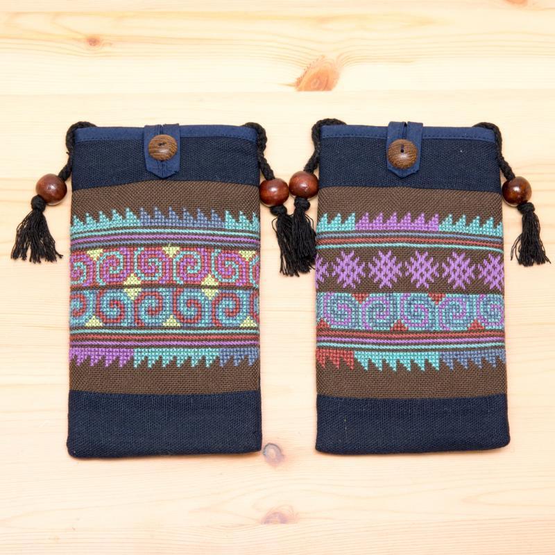 A Bu-Ali(アブアリ)アカ族刺繍パスポートポーチ