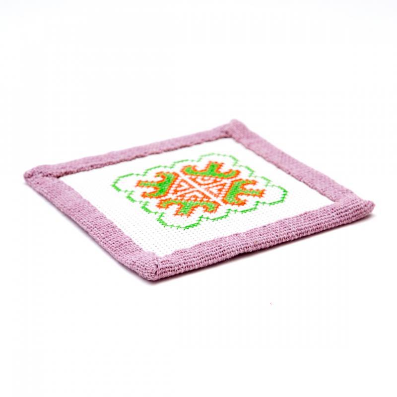 A Bu-Ali(アブアリ)ヤオ族刺繍コースター Type.2