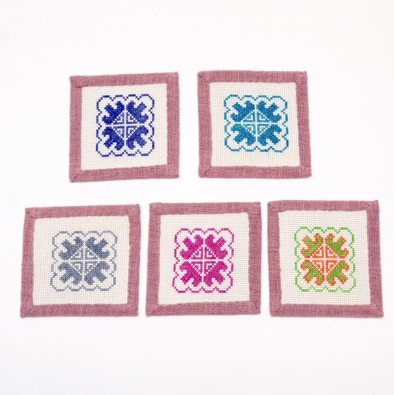 画像2:A Bu-Ari(アブアリ)ヤオ族刺繍コースター Type.2