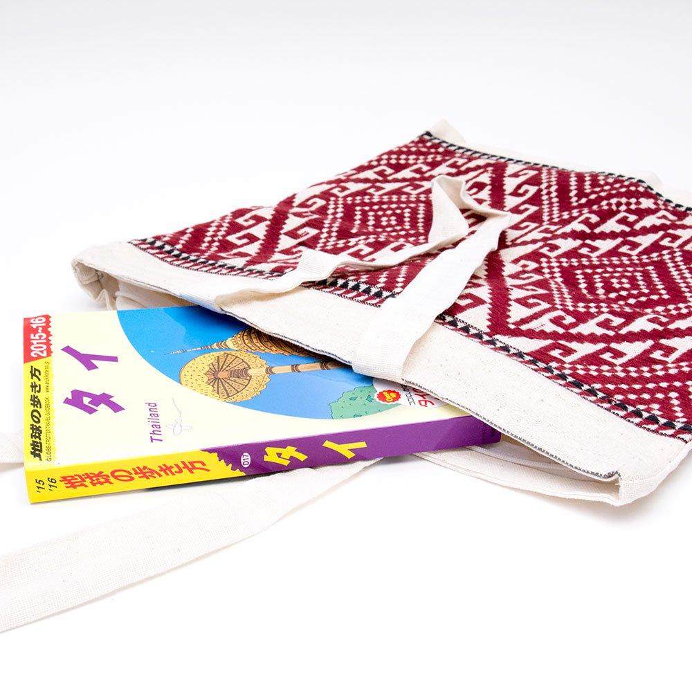 画像2:ラオ族刺繍 トートバッグ (ファスナータイプ)