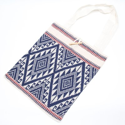 ラオ族手織り布のトートバッグ Type.2