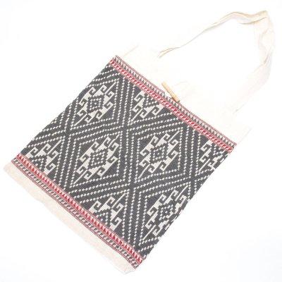 ラオ族手織り布のトートバッグ Type.3
