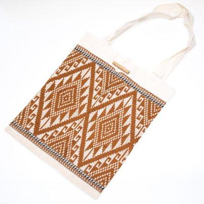 ラオ族手織り布のトートバッグ Type.7