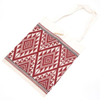 ラオ族手織り布のトートバッグ Type.6