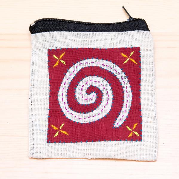 モン族刺繍のコインポーチ