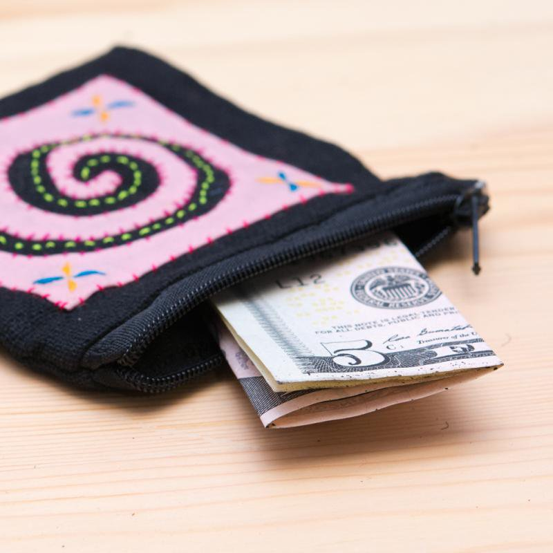 画像2:モン族刺繍のコインポーチ