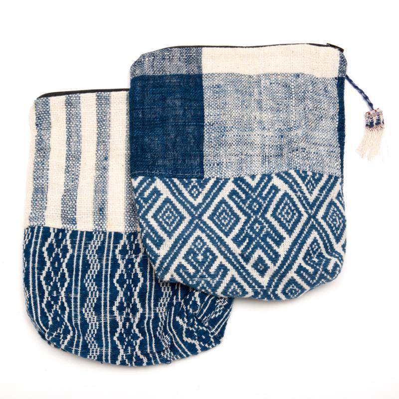 画像4:ルー族刺繍の深いポーチ(オムツポーチ)