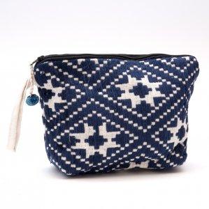 ルー族刺繍のマチ付ポーチ(オムツポーチ)