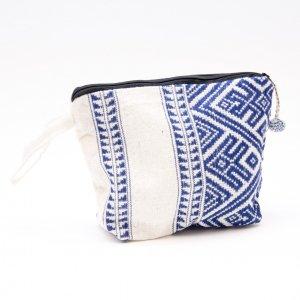 ルー族刺繍のマチ付ポーチ(化粧ポーチ)