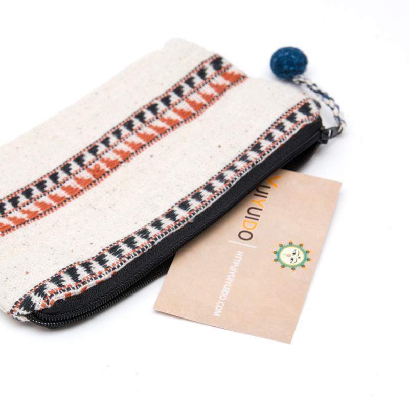 ラオス ルー族手織りの小物ポーチ